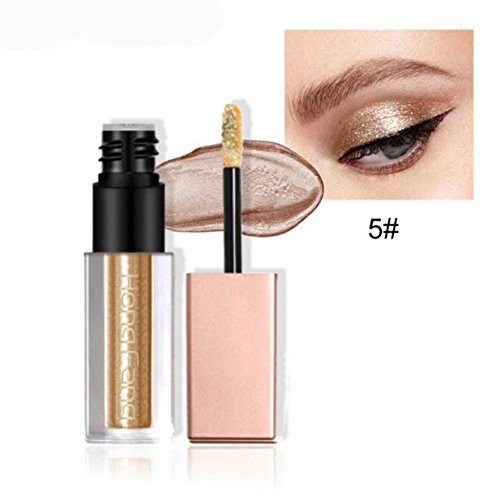 Allbesta Glitzer Flüssig Lidschatten Make-up Stift Pearlescent Silky Naked Smoky Eyeshadow Wasserfest (Sleek Kosmetik-highlight)