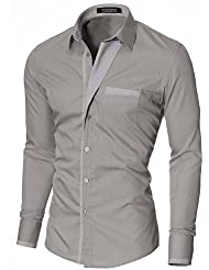 MODERNO - Slim Fit Mode Chemise Homme Manches Longues (VGDS41LS)