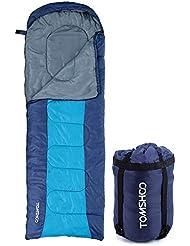 TOMSHOO (190+30)X75CM Thermal all'aperto per Adulti Cappuccio Busta Busta Sacco a Pelo Viaggio Campeggio Escursionismo Multifunzione Denso 1.5kg 0-15℃