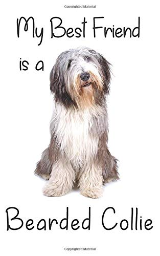 "My best Friend is a Bearded Collie: 8"" x 5"" Blank lined Journal Notebook 120 College Ruled Pages (Best Friends)"