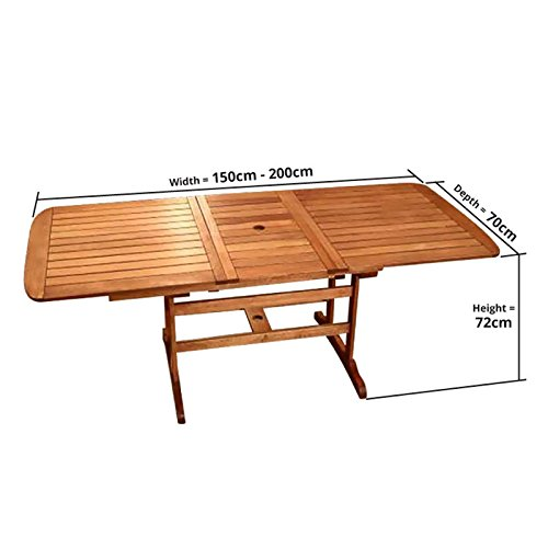 BillyOh Windsor 2m Butterfly Extending Rectangular Hardwood Acacia Wooden Dining Table