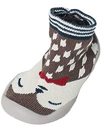 Mitlfuny Niños Niñas Invierno Calentar Suela de Goma Tejer Calcetines de Piso para Recién Nacido Bebé Antideslizantes Dibujo Animado Bebé Medias de Algodón Zapatos de Primeros Pasos 0-3 Años