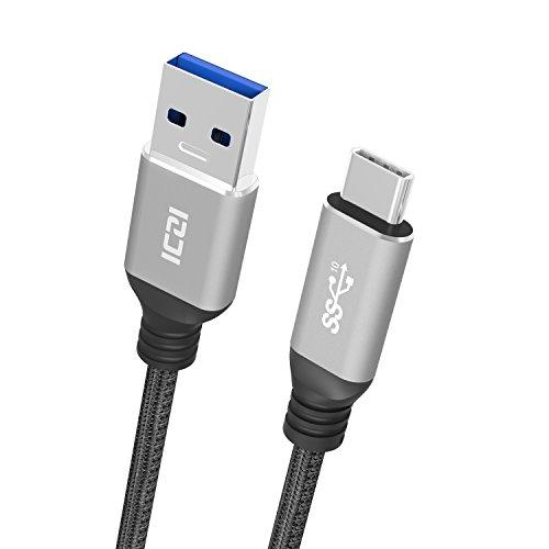 ICZI Cavo USB C a USB 3.0 A [2 Metri] Nylon Intrecciato Type C Ricarica e Trasmissione Dati per Xiaomi Nexus Huawei P9 P10 Honor8 Mate9 LG Nintendo Switch One Plus ASUS ZenFone e Altro
