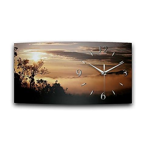 WA090°F Creative Spring Sunrise Designer Wireless Radio Controlled Wall Clock, modern design, made in