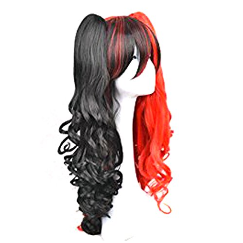 CosDaddy®Lolita 2 Clip Ponytails Long Curly Party Kostüme Cosplay Perücke E
