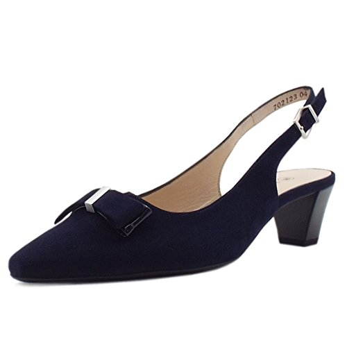 Peter Kaiser Sofie Fionda Indietro Metà Scarpe Tacco in Camoscio Navy Navy Suede