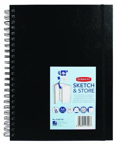 Derwent - Cuaderno de dibujo (A4, 165 g/m², 56hojas)
