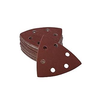 Woltersberger 25 Stück Schleifdreiecke 93 x 93 x 93 mm | Körnung P400 | für Deltaschleifer, vielseitig einsetzbar | Klett Schleifpapier Haft