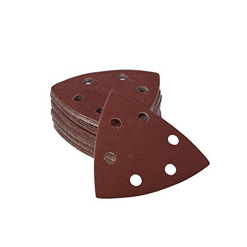 Woltersberger 25 Stück Schleifdreiecke 93 x 93 x 93 mm | Körnung P240 | für Deltaschleifer, vielseitig einsetzbar | Klett Schleifpapier Haft