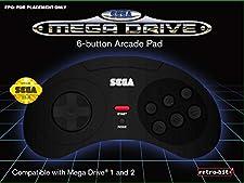 Retro-Bit Official SEGA Mega Drive 6-button Arcade Pad