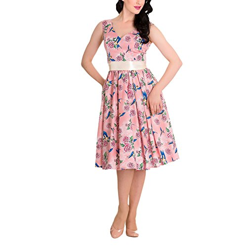 Hell Bunny Kleid LACY 50'S DRESS 4419 Pink S (Bunny Lucy)