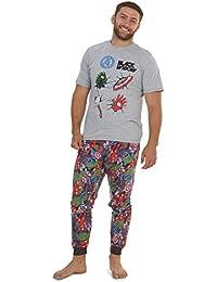 Marvel Conjunto de Pijamas para Hombres Black Widow | Ropa de Dormir de Manga Corta Algodón | Pijama de Hombre Loungewear con Camiseta y Pantalones Cómodo