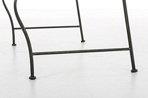CLP Metall Gartenbank TUAN, 2-er Sitz-Bank Garten, Eisen lackiert, Design nostalgisch antik, 105 x 50 cm Bronze - 8