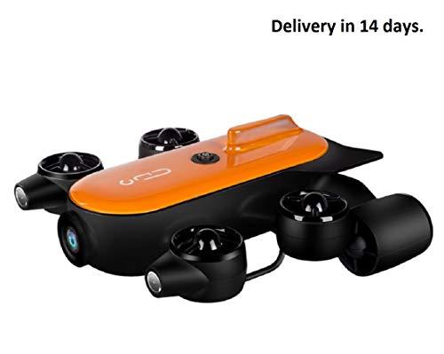 Caméra sous-Marine - Télécommande sous-Marine - Robot de Drone - Détection sous-Marine - Archéologie sous-Marine - 150 m de Profondeur avec caméra Clignotante 4K
