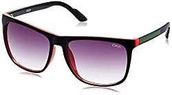 IDEE Square Sunglasses (IDS1884C3SG 100 Shiny Black, Red and Green )