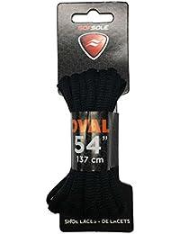 sofsole Sport cordones de color blanco negro 114cm para 7 xnPaFe