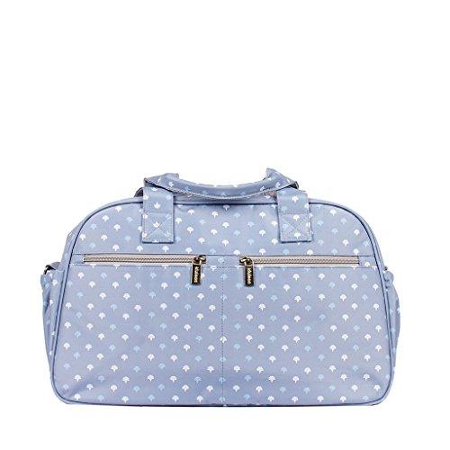Kiwisac Trendy Grey Palmira Azul Bolso Maternal Unisex