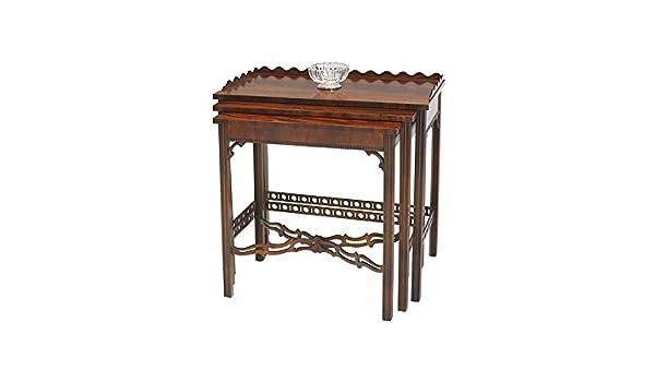 Beistelltisch Tisch Blumentisch 3er Set Antik In Mahagoni H 6259