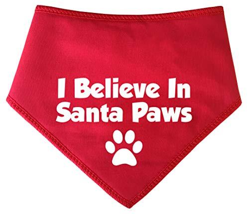 Paws Kostüm Dog Santa - Spoilt Rotten Pets (S2 I Believe In Santa Paws Weihnachten Hund Bandana-alle Rassen Größen erhältlich von Tiny Chihuahua bis Extra groß Neufundländer Hund