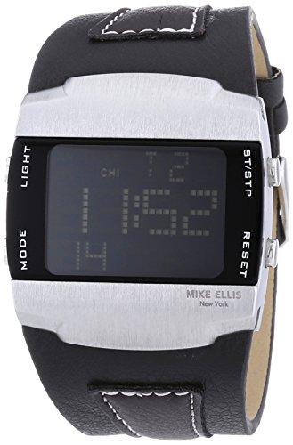 MIKE ELLIS NEW YORK LCD - RELOJ DE CUARZO PARA HOMBRE  CORREA DE CUERO COLOR NEGRO