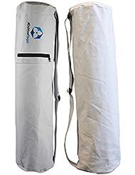 Bolsa de yoga »Mangala« / Mochila de yoga para esterillas de yoga de hasta 190 x 65 cm / blanco