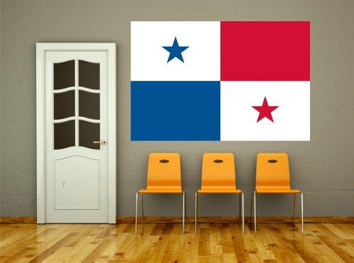 Kuna Panama (Kiwistar Wandtattoo Sticker Fahne Flagge Aufkleber Panama 120 x 80cm)