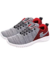 SKYMATE Red Lite Weight Sport Shoes for Boys(7yrs-15yrs)