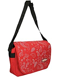 d211f5fa700f Jeep Ladies Girls Red Floral Print School Laptop Computer Notebook  Messenger Courier Bag