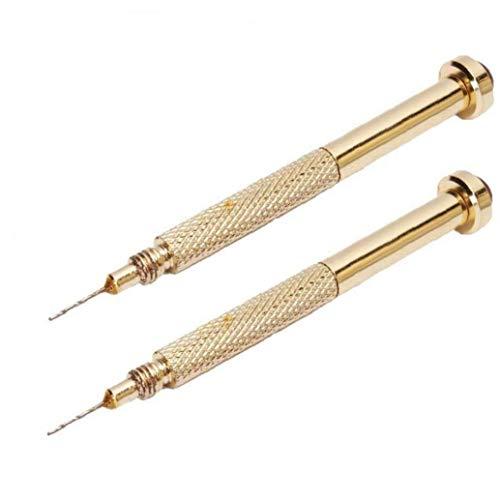 2ST Nail Art Bohrer Pen Gold Hand Drill Baumeln Pierce Piercing Nail Art UV Gel Tipps Malerei Zeichnung, Skulptur, Polnisch Werkzeug Goldene