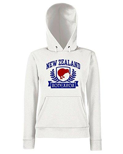 T-Shirtshock - Sweats a capuche Femme TSTEM0069 new zealand Blanc