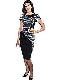 LILICAT 710/5000 Mujeres vestido de oficina vestido de manga corta Bodycon Vestidos (L