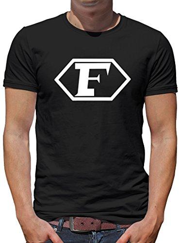 Touchlines Merchandise TLM Captain Future Logo T-Shirt Herren XXL Schwarz (Baumwolle-logo-leibchen)