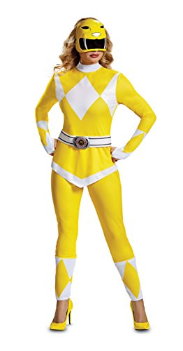 Kostüm Yellow Power Ranger - Disguise Women's Ranger Adult Costume, Yellow, L (12-14)