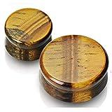 AUMING Kit di dilatatori per Orecchie Tappi per Le Orecchie Purple Rock Stone Double Flare Sella Stretching Indicatori Expander 5-16mm (Color : 16mm)