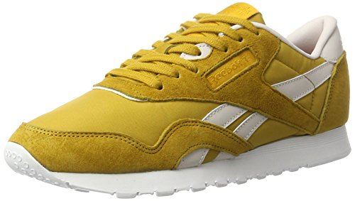 reebok-womens-classic-nylon-x-face-trainers-yellow-eccentric-kindness-6-uk-39-eu