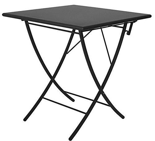 ALTIGASI Table Pliable pour extérieur modèle Vegas 80 x 80 cm Art. ve2080 en Fer zingué et Verni à poussières Couleur Fer Ancien - arruginisce - Produit fabriqué en Italie de vermobil