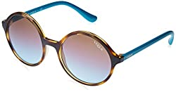 Vogue Gradient Round Womens Sunglasses - (0Vo5036S|52. 0|Azure Grad Pink Grad Brown)