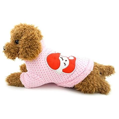 smalllee _ Lucky _ store Dots Fleece Hund Pullover Mäntel Muster Sleep Baby Kleiner Pet Puppy Kleidung Hund Jacken