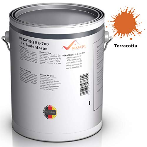 BEKATEQ BE-700 Bodenbeschichtung, 1l Terracotta, Betonfarbe seidenmatt, für innen und außen