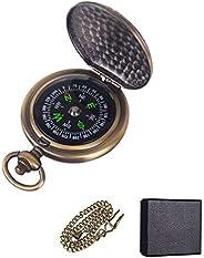 Neihou WB07701 MEHRWEG Zakkompas, draagbaar messing-kompas, waterdicht, opklapbaar navigatiegereedschap, klassiek springdeks