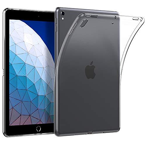 EasyAcc Hülle Case für iPad Air 3 2019/ iPad Pro 10.5 2017, Ultra Dünn Backcover Clear Transparent Cover Soft Premium-TPU Durchsichtige Schutzhülle Slimcase (Ipad Soft-cover)