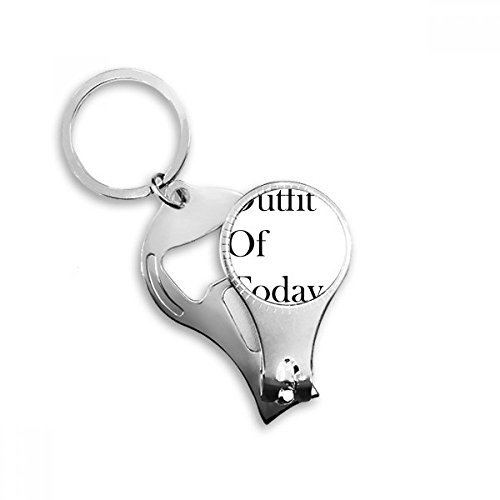 BeatChong Outfit von Heute Metall-Schlüsselanhänger Ring Multifunktionsnagelknipser Flaschenöffner Auto Keychain Beste Charme-Geschenk