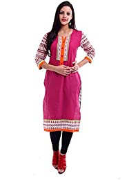 [Sponsored]Puple Printed Kurta With Front Buttons