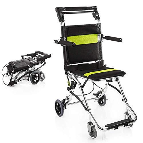 BD.Y Gute Qualität Faltbarer Rollstuhl, beweglicher reisender Rollstuhl, Ultra Leichter Transportrollstuhl für die älteren Personen und die Kinder -