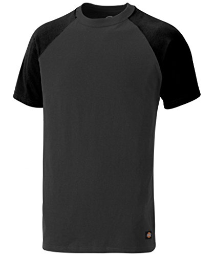 Dickies T-Shirt Two Tone SH2007, Größen, optimale Passform, Passend zur Everyday 24/7 Kollektion 2017 (M, Grau/Schwarz)