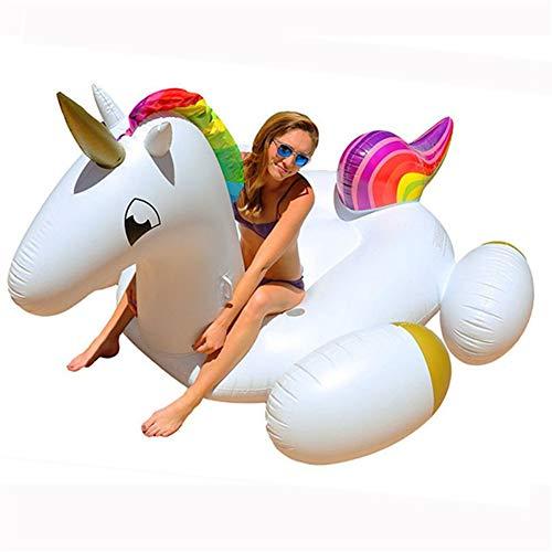 asbare Einhorn Pool Float, Pool Party Spielzeug Floats für Erwachsene Kinder, Sommer Strandliegen Ride-ons River Raft, 106 x 55 x 47 Zoll ()