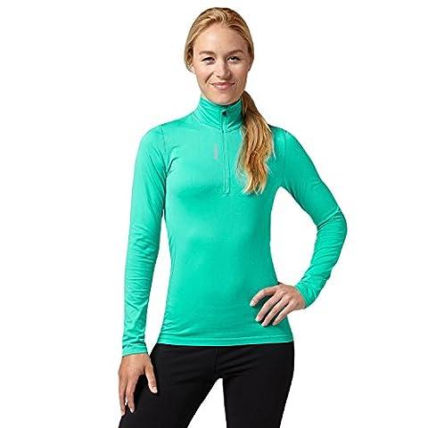 Reebok Sport Essentials - Damen Langarm-Laufshirt mit 1/4-Reißverschluss - nahtlos