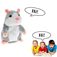 SEALEN Cute Talking Hamster Repeats What You Say, Electronic Pet Mimicry Hamster Nod Head and Talking Plush Toy Buddy Mouse for Kids Gifts