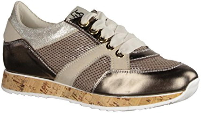 DL SPORT Laminato 3451-292G- Damenschuhe Sneaker Mehrfarbig Leder/Textil