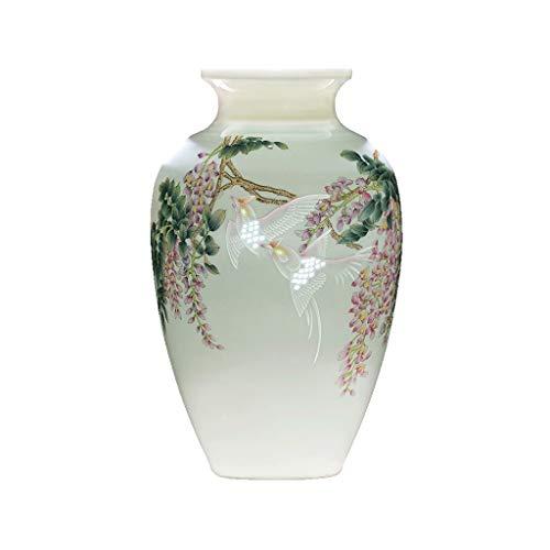 Wenhui Antike chinesische Keramik Vase Vintage Tier Keramik Vase Pferd gemalt orientalische Porzellan Blumenvase, Melone geformt - Pferd-vase